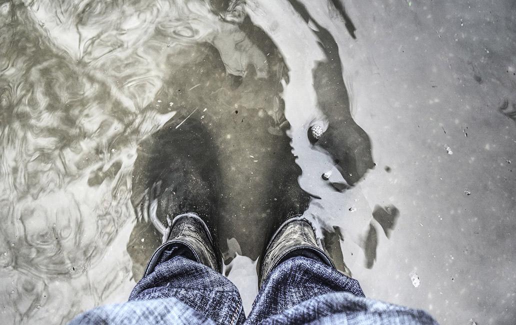 Hochwassertage Köln 2014 im Rheinauhafen