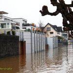 Die erste Hochwasserwelle 2021 hat ihren Scheitel erreicht