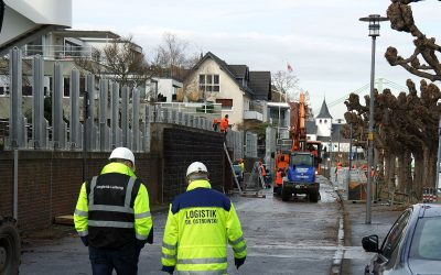 Mobiler Hochwasserschutz wird rückgebaut